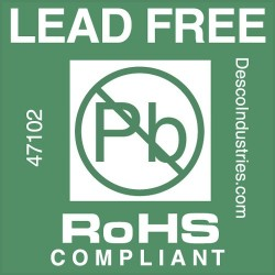 Protektive Pak / Desco - 47102 - Lead-Free Label RoHS Compliant 3 IN Core, Roll of 500