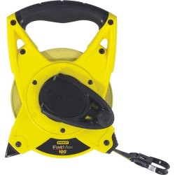 Stanley / Black & Decker - 34812 - Stanley FatMax 100' Long Tape - Fiberglass - Abrasion Resistant