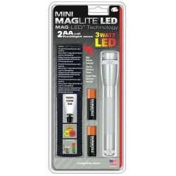 MagLite - SP2210H - Mini © 3 Watt LED Flashlight 2 Cell AA with Holster