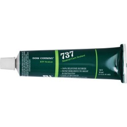 Dow Corning - 737 - Neutral Cure RTV Sealant, Clear, 3 oz. Tube