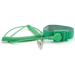 Botron - B9028G - Green Wrist Strap 1/8 Snap with 12 Coil Cord