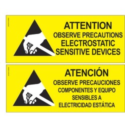 Desco - 06750 - Safety Sign, 101.6 mm, 254 mm, Black on Yellow, Bilingual Warning