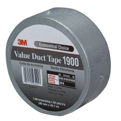 3M - 051115-23422 - 1900-72mm Silver Duct Tape General Use (moq=12)