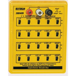 Extech Instruments - 380405 - Capacitance Decade Box, 5% Capacitance substitution from 100pF to 11.111 F