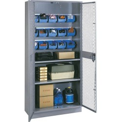 Lyon Workspace - 1152B - Visible Storage Cabinet with 4 Base, 15 Bins and 2 Adjustable Shelves, 36 W x 18 D x 72 H