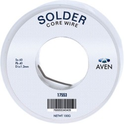 Aven Tools - 17555 - 60/40 1.0mm 100gr Rosin Wire Solder Aven