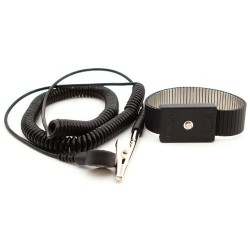 Botron - B9478 - Black Metal Wrist Strap with 6 ft. Cord