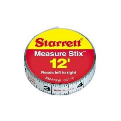 L.S. Starrett - SM46WRL - 1/2 X 6 Foot Measure Stix Tape Measure (Right to Left)