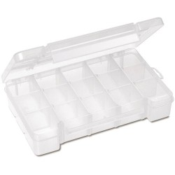 Akro-Mils / Myers Industries - 05705 - Small Parts Divider Box, 8-5/8 x 5-1/8 x 1-5/8 (MOQ=12)