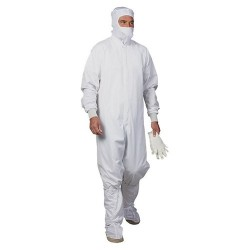 Worklon - 1956-XL - Maxima HD ESD High Density Coverall with Anti-Static Knit Cuffs & Zipper Closure, Large