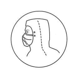 Kimberly-Clark - 62757 - (pack/50) Personal W/knit Hb Face Veil X-lrg