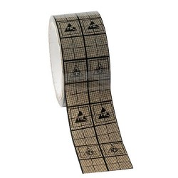 Protektive Pak / Desco - 47019 - Antistatic Conductive Shielding Grid Tape, 2 x 36 m x 3 Paper Core