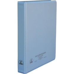 Desco - 07431 - 1 Static Dissipative 3-Ring Binder with Clear Pockets for Paper Work