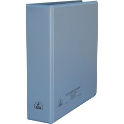 Desco - 07433 - 2 Static Dissipative 3-Ring Binder with Clear Pockets for Paper Work