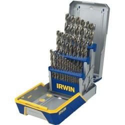 IRWIN Industrial Tool - 3018002B - 29 Piece Drill Bit Set Cobalt Case M42