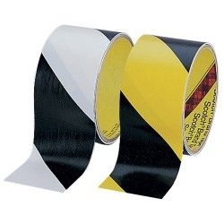 Argon - SLM-2000BY - Safety Tape, Black & Yellow Striped, 2 W x 36 Yards