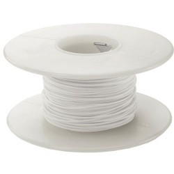 AlphaWire - 3053-WH005 - White Wire Stranded 20awg 100 Alpha