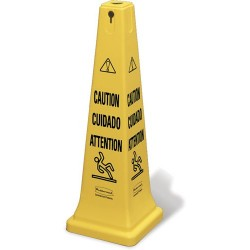Rubbermaid - 6276 - Safety Cone with Multi-Lingual Caution Imprint, 36 H (MOQ=5)