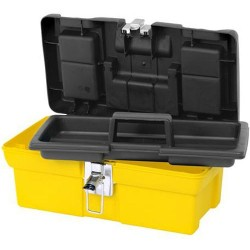 Stanley / Black & Decker - 016013R - Plastic Portable Tool Box, 7-13/64H x 16W x 8-3/16D, 485 cu. in., Black