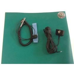 Static Solutions - UMK-3072-GR - Ultimat Static Dissipative Work Surface Mat Kit, 30 x 72