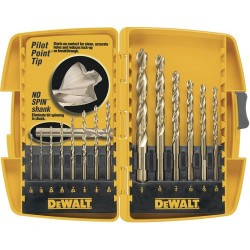 Dewalt - DW1169 - DeWALT 14 Piece Pilot Point Drill Bit Set - DW1169