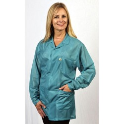Tech Wear - LOJ-83-5XL - Teal Esd Safe Jacket W/3 Pockets