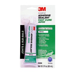 3M - 05260 - Marine Adhesive Sealant, White, 3 oz Tube