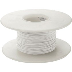AlphaWire - 3051-WHITE - Hookup Wire 22AWG White (Stranded) UL AWM 1007