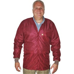 Tech Wear - VOJ-33C-2XL - V-Neck ESD-Safe Shielding Jacket, 2X-Large