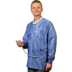 Tech Wear - X2-HOJ-23C-S - ESD-Safe Jacket with Cuffs, Blue, Small
