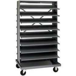 Quantum Storage Systems - QPRD-000 - Stationary Double Sided Pick Rack with 16 Shelves, 24 x 36 x 60