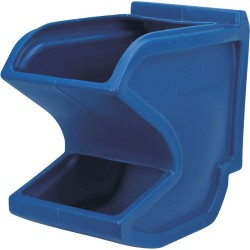 Akro-Mils / Myers Industries - 31625BLUE - Hopper Gravity Flow 10 In Blue Akro-mils High Density Polyethylene, Ea