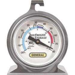 General Tools - FT80R - Round Refrigerator/Freezer Analog Thermometer