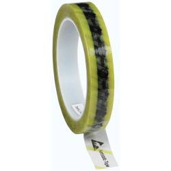 Protektive Pak / Desco - 46914 - Antistatic Tape with ESD Symbols and Yellow Stripe, 3/4 x 72 Yards x 3 Plastic Core