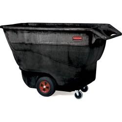 Rubbermaid - FG9T1500BLA - Tilt Truck, 1 cu. yd. Volume Capacity, 1250 lb. Load Capacity, Utility Hopper Type