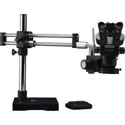 Luxo - 23725RB-USBSRTRT-ESD - TRU Microscope w/Dual Boom Stand, w/Dimmable LED-HO Ring Light & USB 2.0 Camera