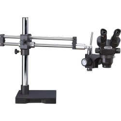 Luxo - 23720RB-ESD - System 373 ESD Trinocular Microscope w/Dual Boom Stand, Lighting Sold Separately