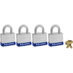 Master Lock - 3008D - Master Lock Pk-4 Keyed Alike Masterlock (moq=4)