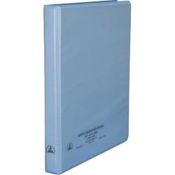 Desco - 07430 - 1/2 Static Dissipative 3-Ring Binder with Clear Pockets for Paper Work