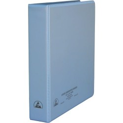 Desco - 07432 - 1-1/2 Static Dissipative 3-Ring Binder with Clear Pockets for Paper Work