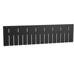 "Akro-Mils / Myers Industries - 42226 - Long Divider, Black, Industrial Grade Polymer, 20-1/2"" Length, 5-2/5"" Height"