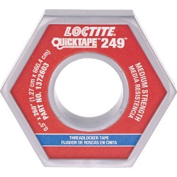 Loctite / Henkel - 1372603 - QuickTape 249 Medium Blue Threadlocking Adhesive Tape, 260 Roll (MOQ=10)