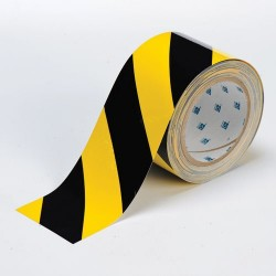 Brady - 104347 - Brady 3' X 100' Black And Yellow 0.008' B-514 Polyester ToughStripe Floor Marking Tape, ( Roll )