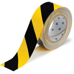 "Brady - 104317 - Brady 2"" X 100' Black And Yellow 2 mil B-514 Polyester Tough Stripe Marking Tape"