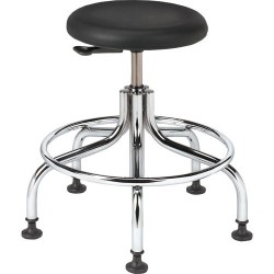 Bevco Precision - 3210C1P-ACF18 - Class 10 Cleanroom Stool with Glides (Seat Height: 18-23)