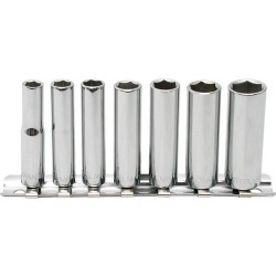 Steelman - 301318 - 7 Pc - 1/4 Drive Deep Socket Set - SAE - 6 Pt