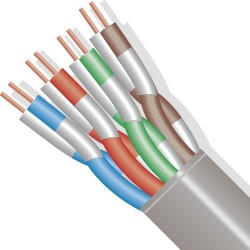 Wavenet - 5E04UR-RED - 1000 CAT5e Solid PVC Insulation