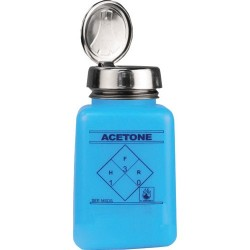 Menda / Desco - 35298 - Static Dissipative durAstatic One-Touch Dispenser Bottle, Printed Acetone, Blue, 6 oz.