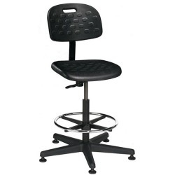 Bevco Precision - V7307MG - 27 Base Polyurethane Chair with Mushroom Glides and Footring, Seat Height 18 - 25.75