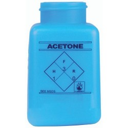 Menda / Desco - 35265 - Static Dissipative durAstatic Dispenser Bottle, Printed Acetone, Blue, 6 oz.